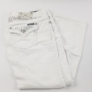 Miss me 31 boot white jeans